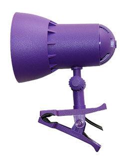 Светильник настольный Трансвит NADEZHDA1MINI/VIO на прищепке лампа накаливания E27 фиолетовый 4(Б/У)