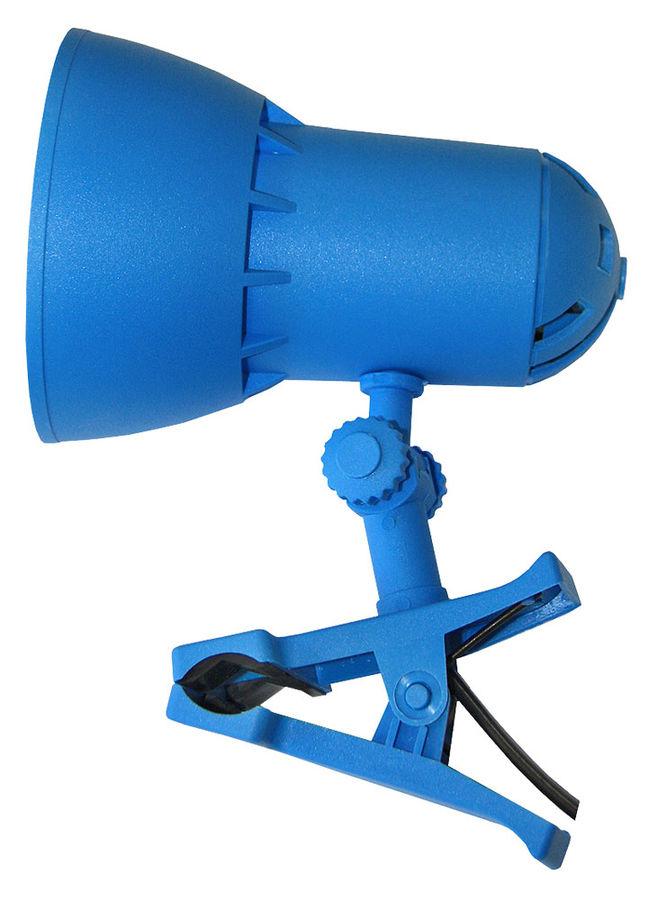 Светильник настольный ТРАНСВИТ НАДЕЖДА1MINI на прищепке,  40Вт,  синий лазурь [nadezhda1mini/blu]