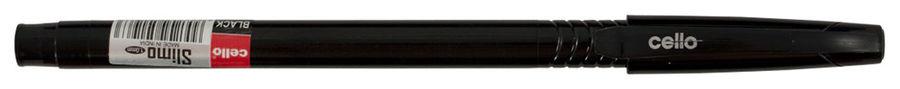 Ручка шариковая Cello SLIMO 0.7мм игловидный пиш. наконечник черный/черный черные чернила коробка