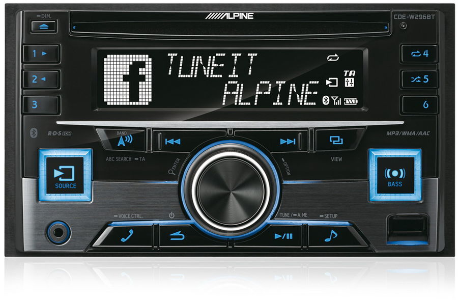 Автомагнитола ALPINE CDE-W296BT,  USB