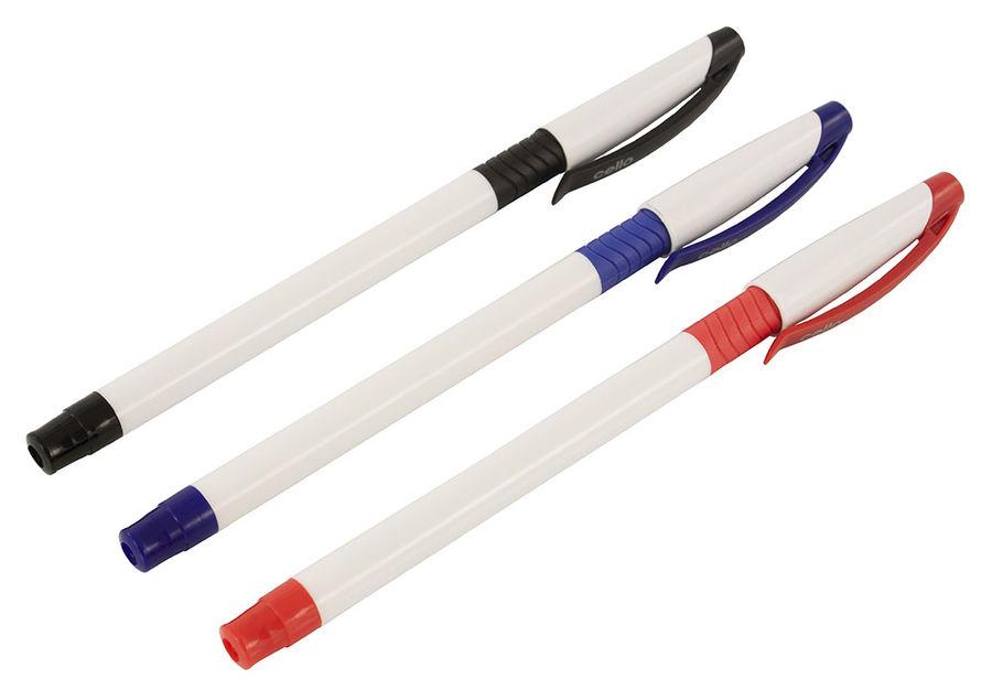 Ручка шариковая Cello SLIMO GRIP 0.7мм резин. манжета белый/черный черные чернила коробка
