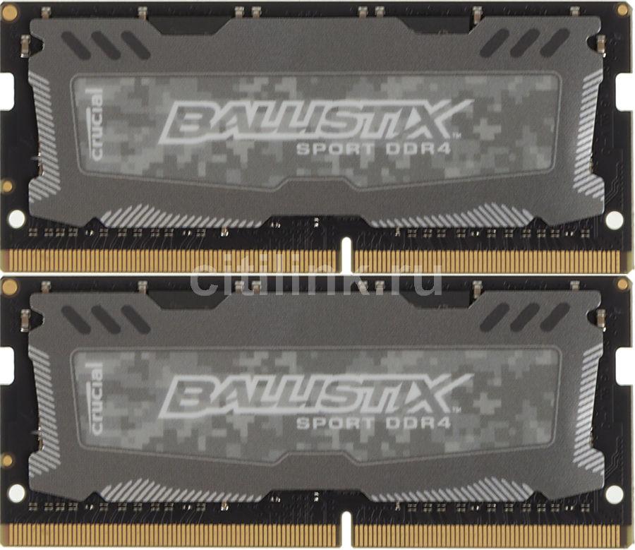Модуль памяти CRUCIAL Ballistix Sport LT BLS2C8G4S240FSD DDR4 -  2x 8Гб 2400, SO-DIMM,  Ret