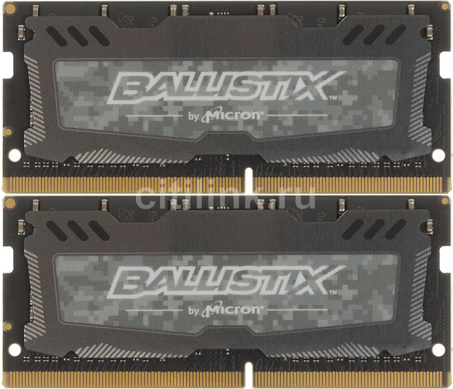 Модуль памяти CRUCIAL Ballistix Sport LT BLS2C16G4S240FSD DDR4 -  2x 16Гб 2400, SO-DIMM,  Ret