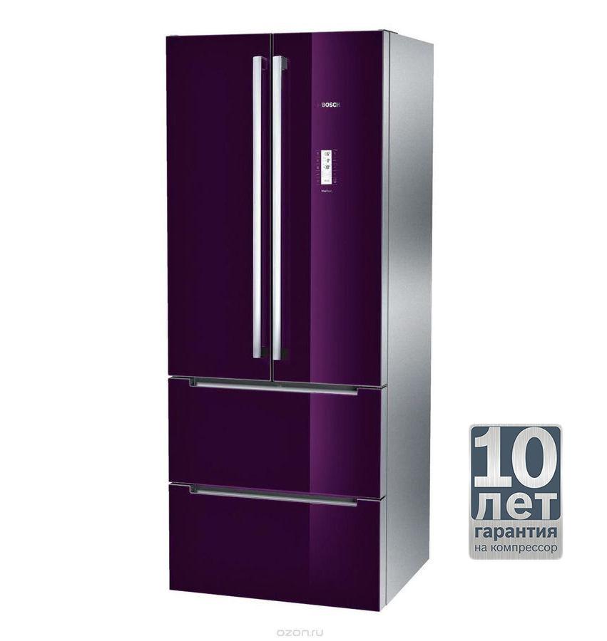 Холодильник BOSCH KMF40SA20R,  трехкамерный,  фиолетовый