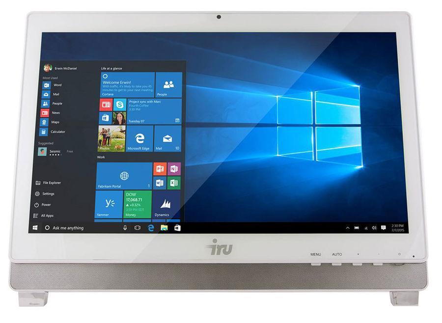 Моноблок IRU Office K2102, Intel Pentium G4400, 4Гб, 32Гб SSD,  Intel HD Graphics 510, Windows 10 Home, белый [400005]