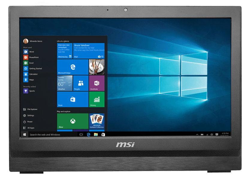 Моноблок MSI Pro 20T 6M-020RU, Intel Core i3 6100, 4Гб, 1000Гб, Intel HD Graphics 530, DVD-RW, Free DOS, белый [9s6-aa7812-020]