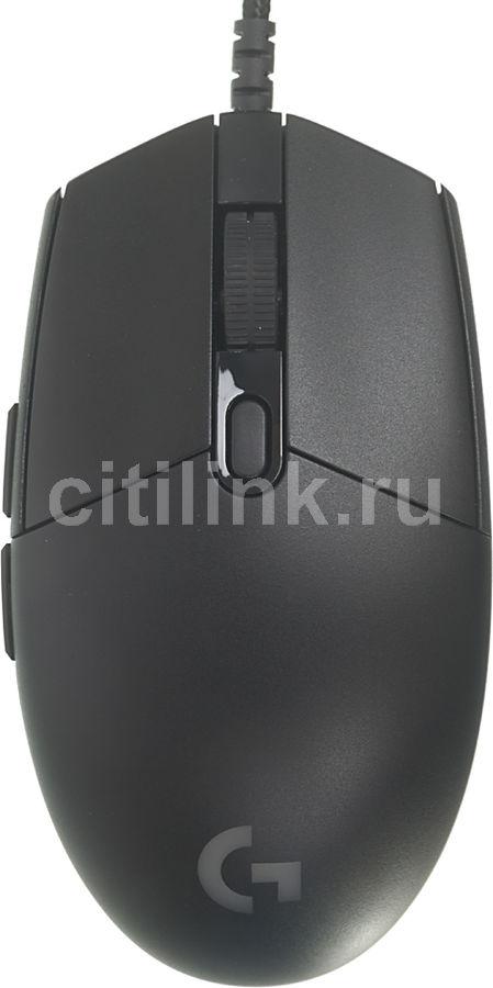 Мышь LOGITECH G PRO оптическая проводная USB, черный [910-004856]