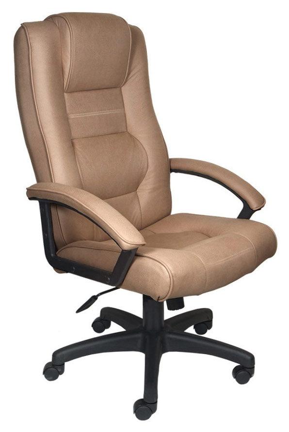 Кресло руководителя БЮРОКРАТ T-9906AXSN, на колесиках, искусственный нубук, светло-коричневый [t-9906axsn/f9]