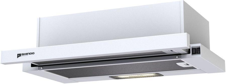 Вытяжка встраиваемая Shindo LIBRA 60 PB белый управление: кнопочное (1 мотор)
