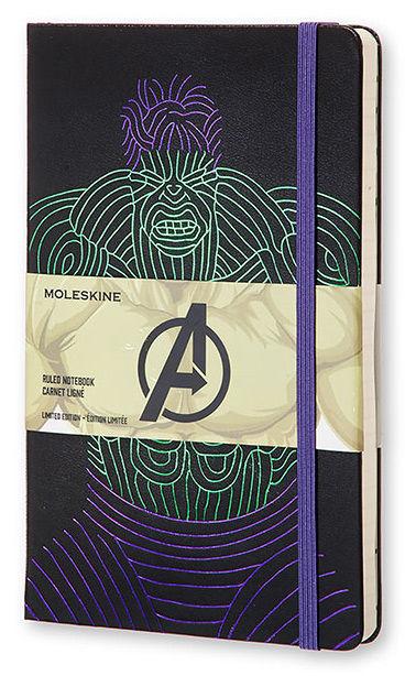 Блокнот Moleskine Limited Edition THE AVENGERS Мстители Large 130х210мм 240стр. линейка Hulk