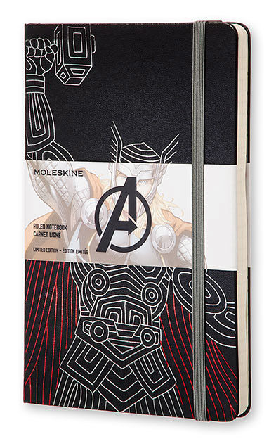 Блокнот Moleskine THE AVENGERS (Мстители) LARGE Limited Edition 130х210мм 240стр. линейка Thor