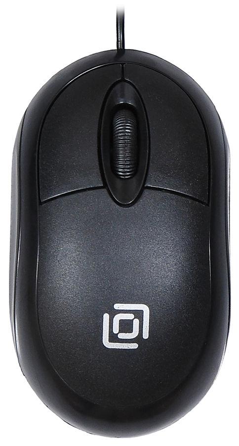Мышь OKLICK 105S, оптическая, проводная, USB, черный [hm-01]