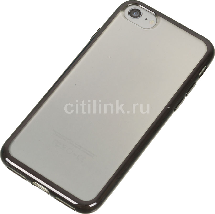 Чехол (клип-кейс) DEPPA Gel Plus Case, для Apple iPhone 7, черный [85253]