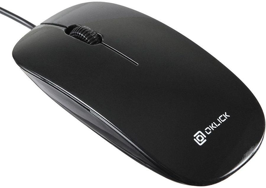 Мышь OKLICK 265M оптическая проводная USB, черный [hm-36]
