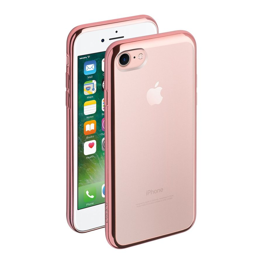 Чехол (клип-кейс) DEPPA Gel Plus Case, для Apple iPhone 7, розовое золото [85257]
