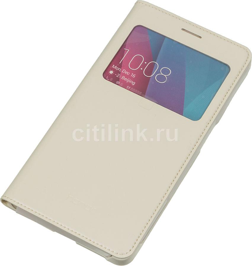 Чехол (флип-кейс) HONOR Smart Cover, для Huawei Honor 5X, белый [51991324]