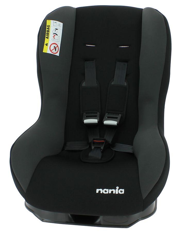 Автокресло детское NANIA Maxim ECO (rock grey), 0+/1, черный/серый [028850]