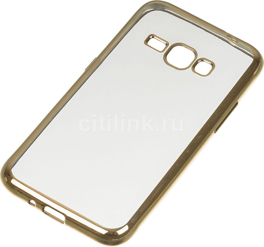 Чехол (клип-кейс) REDLINE iBox Blaze, для Samsung Galaxy J1(2016), золотистый [ут000009693]