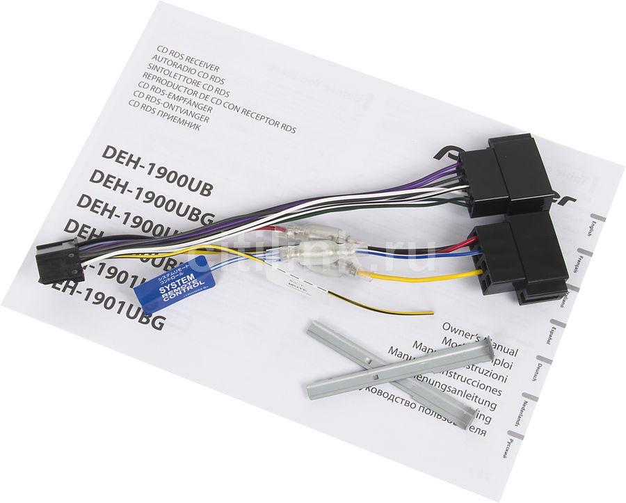 проигрыватель cd mp3 pioneer deh-1900ub 4x50вт usb