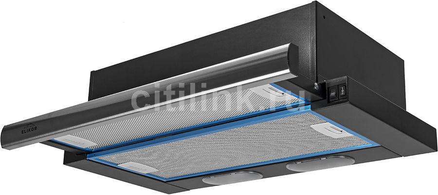 Вытяжка встраиваемая Elikor Интегра 60П-400-В2Л черный/нержавеющая сталь управление: кнопочное (1 мо