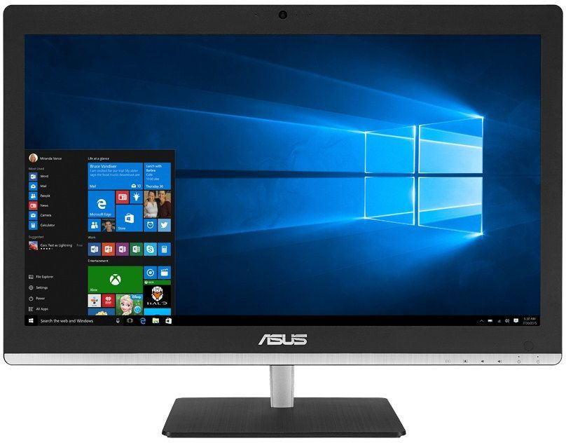 Моноблок ASUS V220IBUK-BC080X, Intel Celeron N3050, 4Гб, 500Гб, Intel HD Graphics, DVD-RW, Windows 10, черный [90pt01f1-m01680]