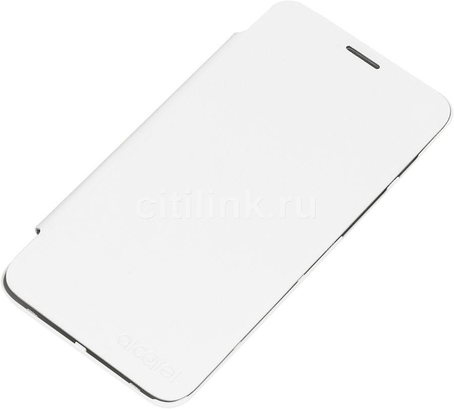 Чехол (флип-кейс) ALCATEL 5010 Flip Cover, для Alcatel Pixi 4 5010D, белый [g5010-3balfcg]