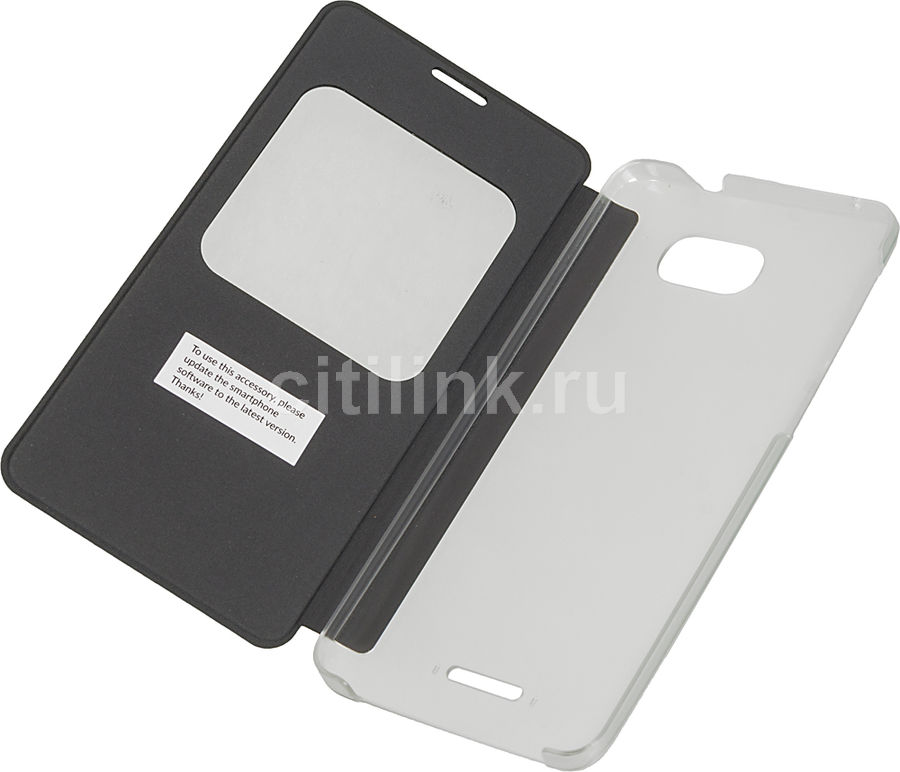 Чехол (флип-кейс) ALCATEL 5095 Flip Case, для Alcatel Pop 4S, серый [g5095-3aalafg]