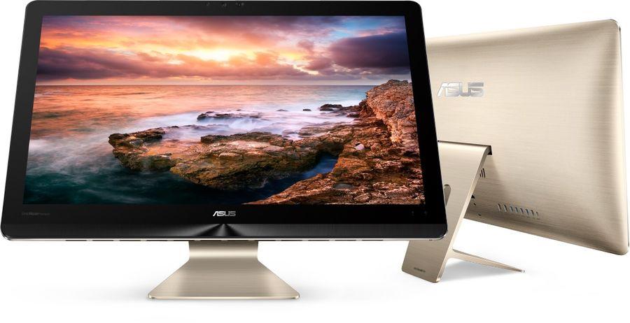 Моноблок ASUS Z240ICGT-GJ191X, Intel Core i7 6700T, 16Гб, 1000Гб, 512Гб SSD,  nVIDIA GeForce GTX 960M - 4096 Мб, Windows 10, черный и золотистый [90pt01e1-m06040]