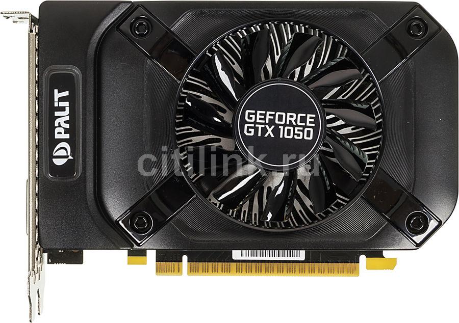 Видеокарта PALIT GeForce GTX 1050,  PA-GTX1050 StormX 2G,  2Гб, GDDR5, Ret [ne5105001841-1070f]
