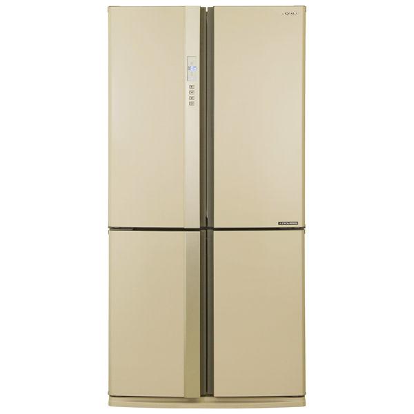 Холодильник SHARP SJ-EX98FBE,  трехкамерный, бежевый