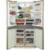 Холодильник SHARP SJ-EX98FBE,  трехкамерный, бежевый вид 2