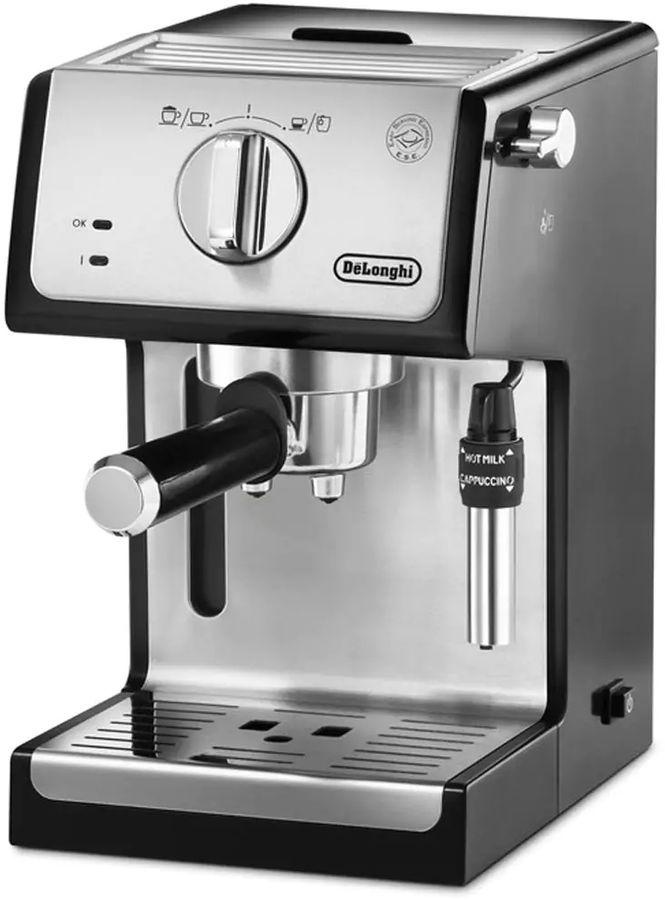 Кофеварка DELONGHI ECP35.31,  эспрессо,  серебристый  / черный [0132104159]