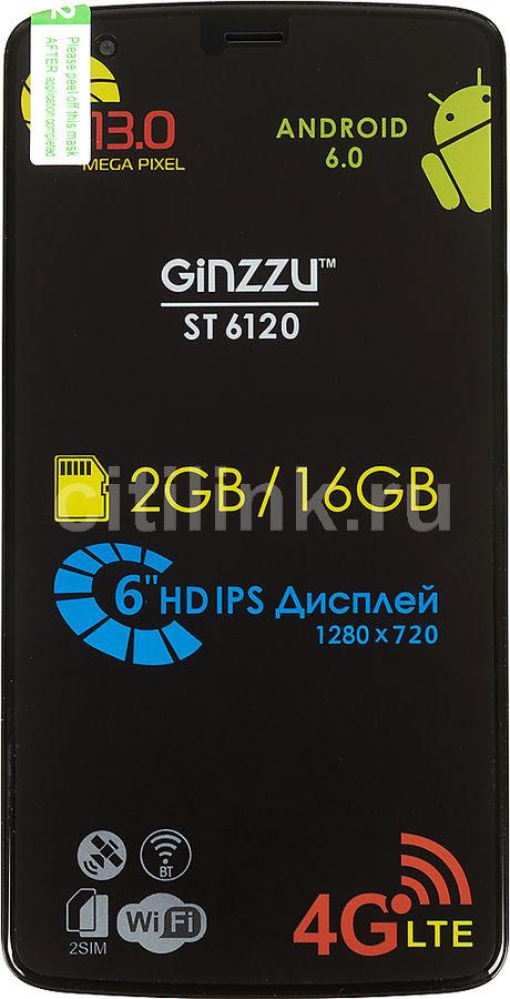 Смартфон GINZZU ST6120,  черный