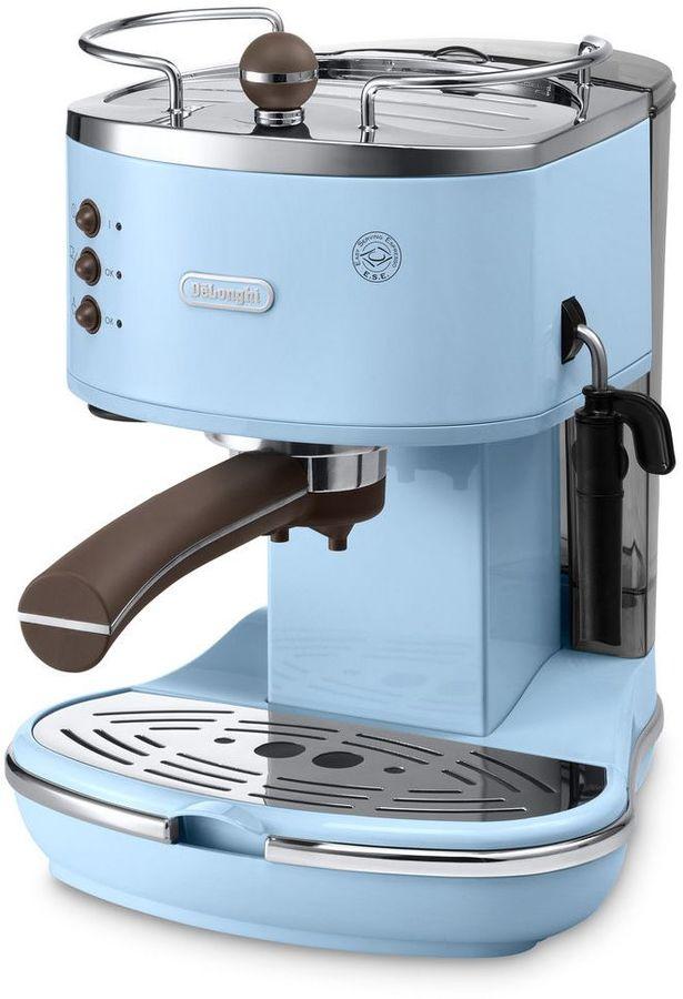 Кофеварка DELONGHI ECOV311.AZ,  эспрессо,  голубой [0132106085]