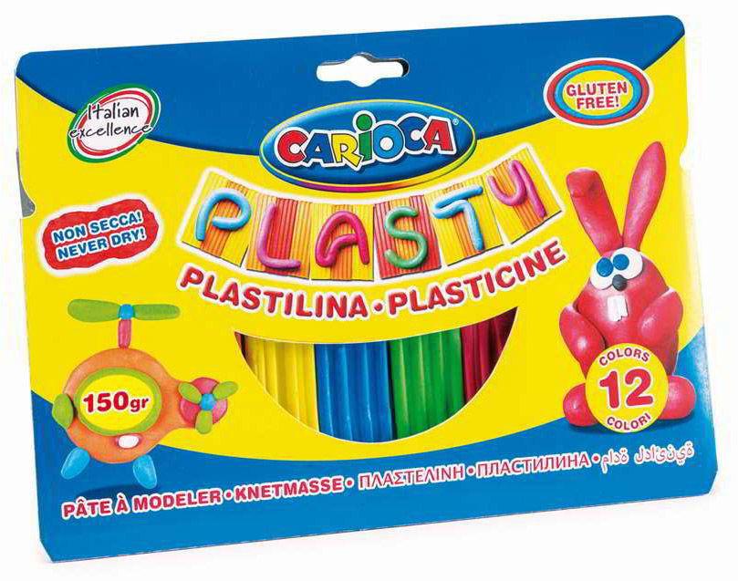 Пластилин Carioca 42691 12цв. картон.кор/европод.