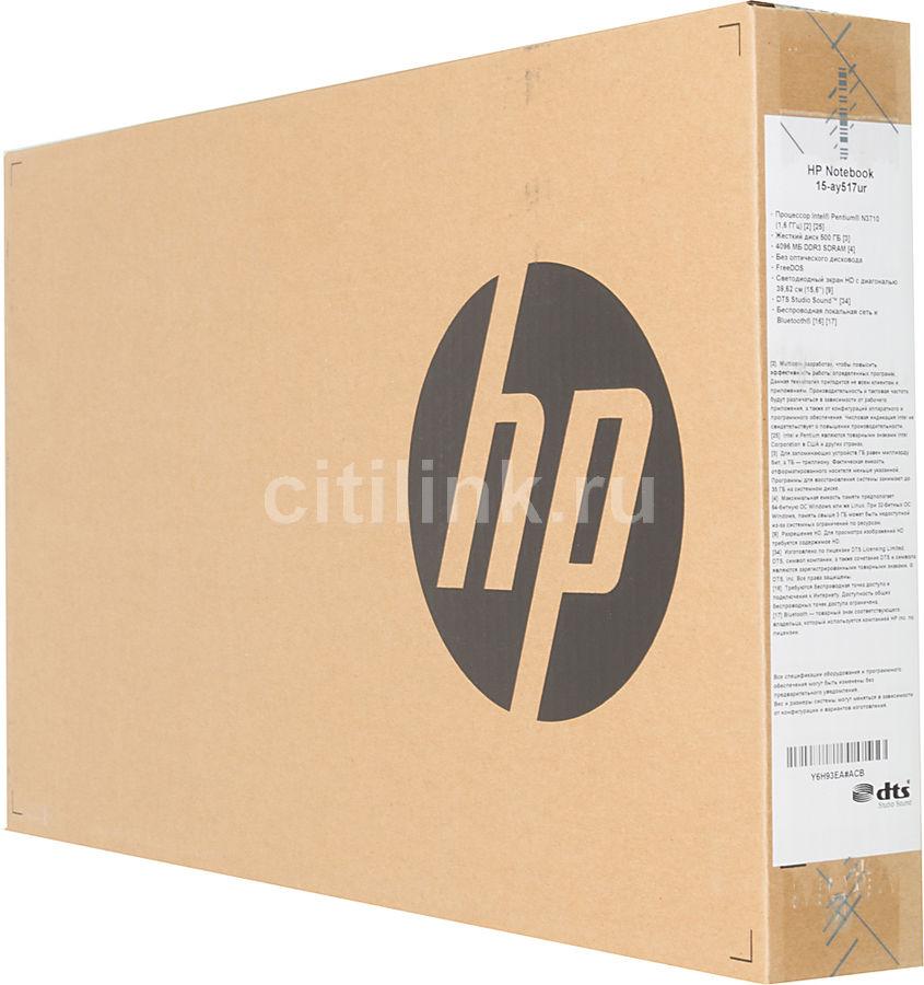 Ноутбук HP 15-ay517ur Y6H93EA (Intel Pentium N3710 1.6 GHz/4096Mb/500Gb/Intel HD Graphics/Wi-Fi/Bluetooth/Cam/15.6/1366x768/DOS)