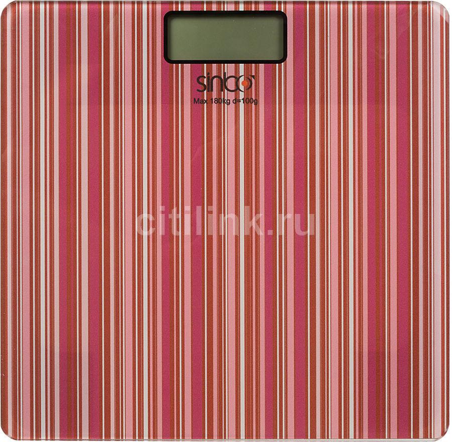 Весы SINBO SBS 4438, до 180кг, цвет: красный