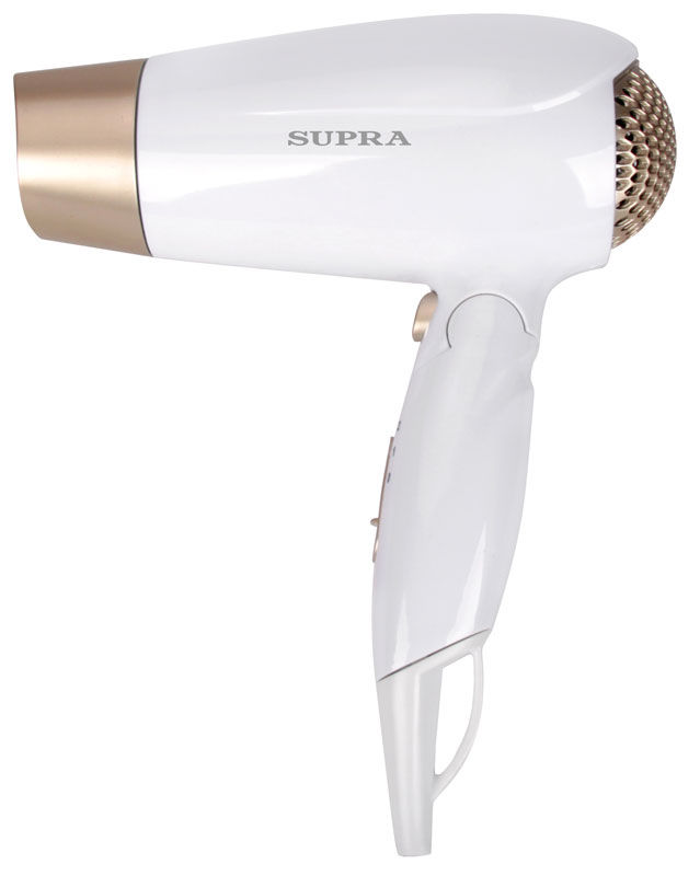 Фен SUPRA PHS-1411, 1600Вт, белый