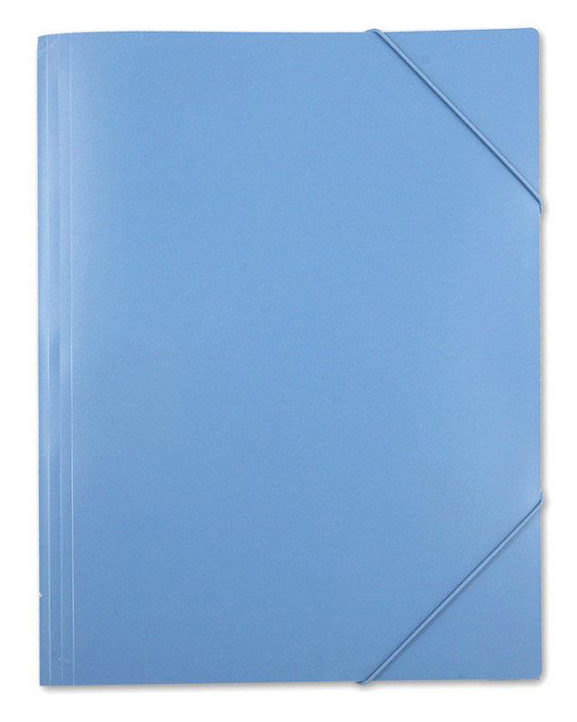 Папка на резинке Бюрократ -PRA3BLUE A3 пластик 0.7мм синий вмест.:250лист.
