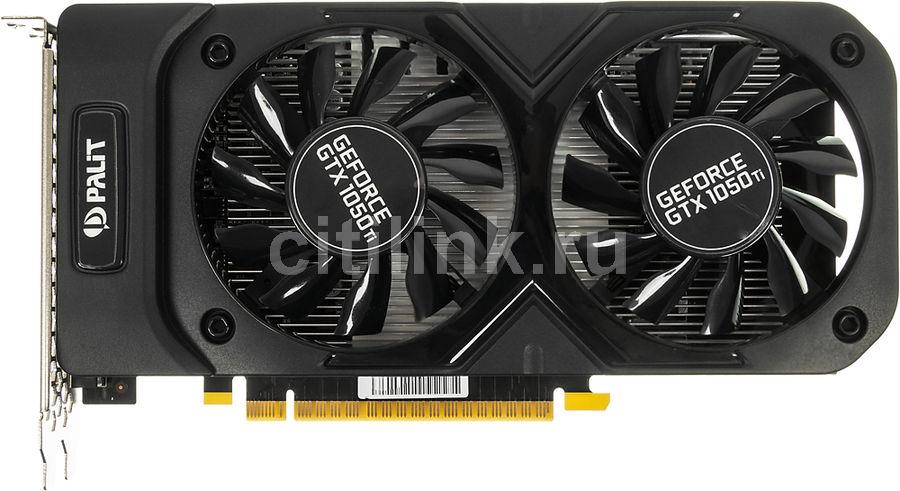 Видеокарта PALIT nVidia  GeForce GTX 1050TI ,  PA-GTX1050Ti Dual OC 4G,  4Гб, GDDR5, OC,  Ret [ne5105ts18g1-1071d]