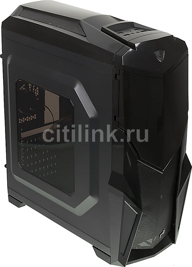 Корпус ATX AEROCOOL Cruisestar Advance, Midi-Tower, без БП, черный