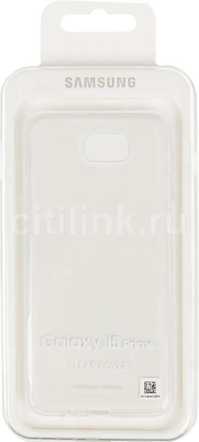 Чехол (клип-кейс) SAMSUNG Clear Cover, для Samsung Galaxy J5 Prime, прозрачный [ef-qg570ttegru] чехол samsung ef qg570ttegru для samsung galaxy j5 prime clear cover прозрачный