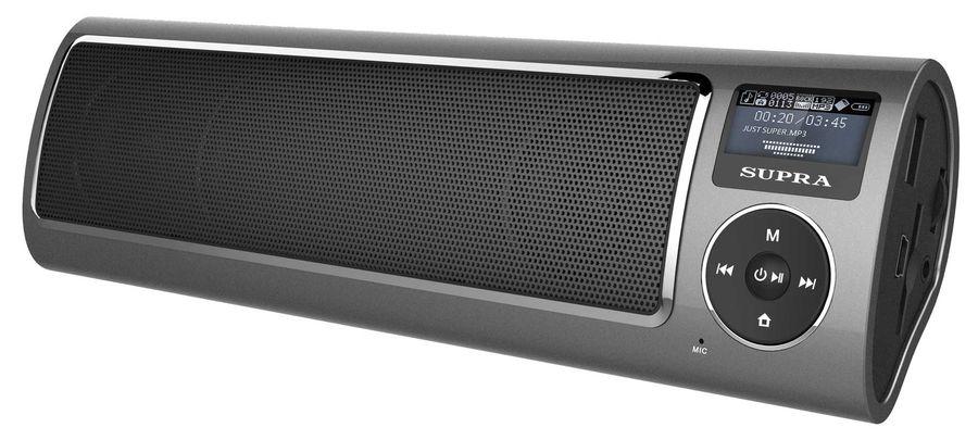 Аудиомагнитола SUPRA PAS-6280,  серый