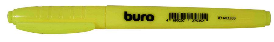Текстовыделитель Buro скошенный пиш. наконечник желтый