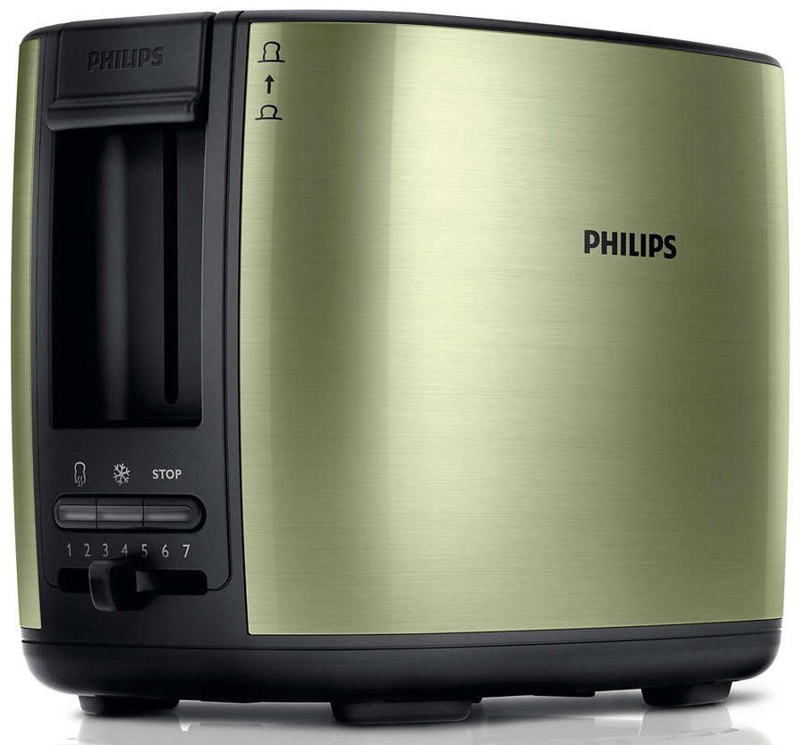 Тостер PHILIPS HD2628/10,  зеленый