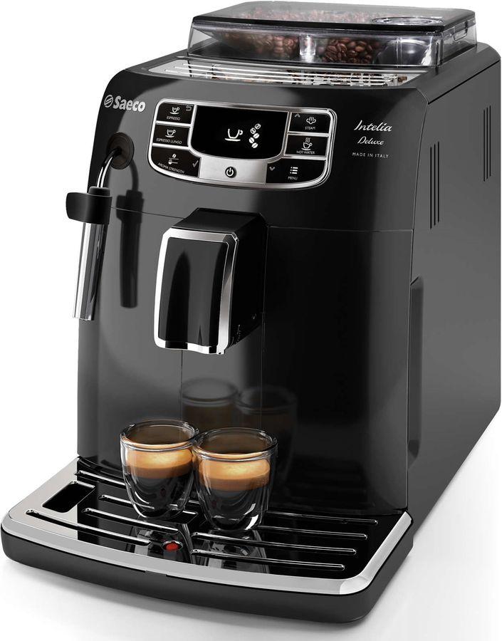 Кофемашина PHILIPS Saeco Intelia Deluxe HD8887/19,  черный