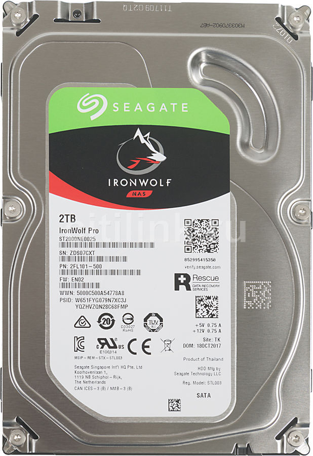 """Жесткий диск SEAGATE Ironwolf Pro ST2000NE0025,  2Тб,  HDD,  SATA III,  3.5"""""""