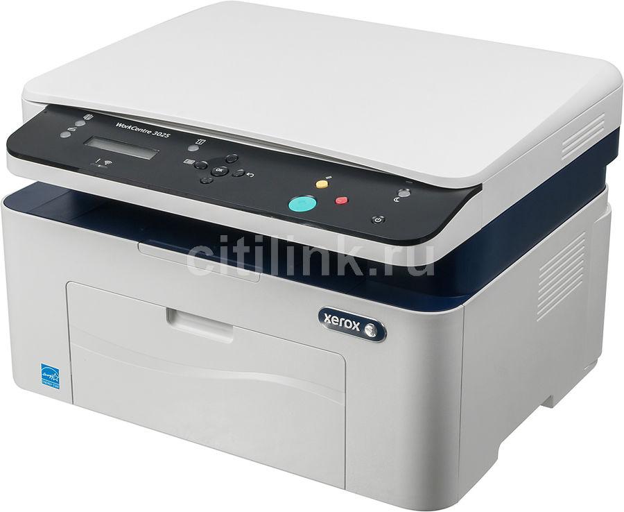МФУ XEROX WorkCentre 3025,  A4,  лазерный,  белый [wc3025bi]
