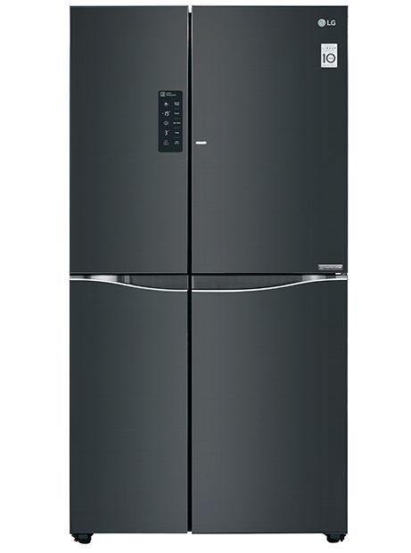 Холодильник LG GC-M257UGBM,  двухкамерный, черное стекло
