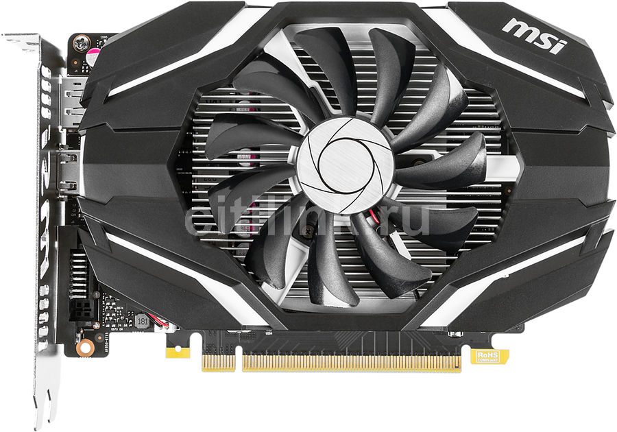 Видеокарта MSI GeForce GTX 1050, GTX 1050 2G OC, 2Гб, GDDR5, Ret